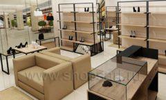 Дизайн интерьера магазина обуви 1 торговое оборудование СТИЛЬ ЛОФТ Дизайн 12