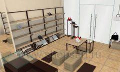 Дизайн интерьера магазина обуви 1 торговое оборудование СТИЛЬ ЛОФТ Дизайн 13