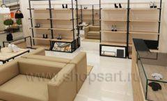 Дизайн интерьера магазина обуви 1 торговое оборудование СТИЛЬ ЛОФТ Дизайн 14