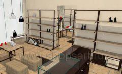 Дизайн интерьера магазина обуви 1 торговое оборудование СТИЛЬ ЛОФТ Дизайн 15