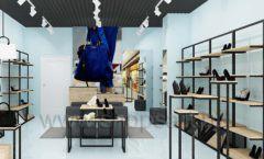 Дизайн интерьера магазина обуви 2 торговое оборудование СТИЛЬ ЛОФТ Дизайн 03
