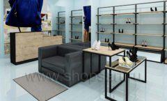 Дизайн интерьера магазина обуви 2 торговое оборудование СТИЛЬ ЛОФТ Дизайн 04