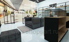 Дизайн интерьера магазина обуви 2 торговое оборудование СТИЛЬ ЛОФТ Дизайн 05