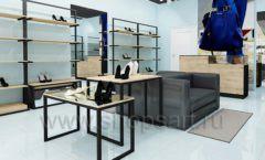 Дизайн интерьера магазина обуви 2 торговое оборудование СТИЛЬ ЛОФТ Дизайн 07