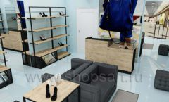 Дизайн интерьера магазина обуви 2 торговое оборудование СТИЛЬ ЛОФТ Дизайн 08