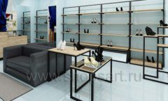 Дизайн интерьера магазина обуви 2 торговое оборудование СТИЛЬ ЛОФТ Дизайн 09