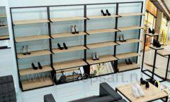 Дизайн интерьера магазина обуви 2 торговое оборудование СТИЛЬ ЛОФТ Дизайн 11