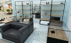 Дизайн интерьера магазина обуви 2 торговое оборудование СТИЛЬ ЛОФТ Дизайн 12