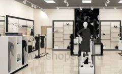 Дизайн интерьера магазина одежды торговое оборудование ЧЕРНО БЕЛАЯ КЛАССИКА Дизайн 01