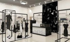 Дизайн интерьера магазина одежды торговое оборудование ЧЕРНО БЕЛАЯ КЛАССИКА Дизайн 05
