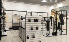 Дизайн интерьера магазина одежды торговое оборудование ЧЕРНО БЕЛАЯ КЛАССИКА Дизайн 07