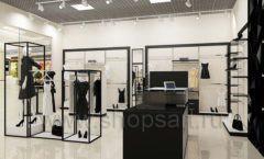 Дизайн интерьера магазина одежды торговое оборудование ЧЕРНО БЕЛАЯ КЛАССИКА Дизайн 08