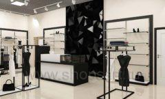 Дизайн интерьера магазина одежды торговое оборудование ЧЕРНО БЕЛАЯ КЛАССИКА Дизайн 09