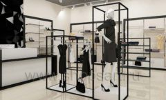 Дизайн интерьера магазина одежды торговое оборудование ЧЕРНО БЕЛАЯ КЛАССИКА Дизайн 11