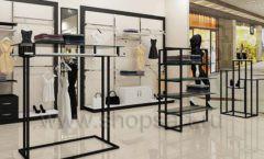 Дизайн интерьера магазина одежды торговое оборудование ЧЕРНО БЕЛАЯ КЛАССИКА Дизайн 13