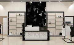 Дизайн интерьера магазина одежды торговое оборудование ЧЕРНО БЕЛАЯ КЛАССИКА Дизайн 14