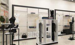 Дизайн интерьера магазина одежды торговое оборудование ЧЕРНО БЕЛАЯ КЛАССИКА Дизайн 16