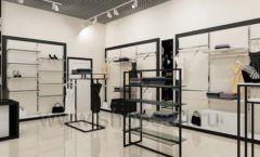 Дизайн интерьера магазина одежды торговое оборудование ЧЕРНО БЕЛАЯ КЛАССИКА Дизайн 19