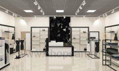 Дизайн интерьера магазина одежды торговое оборудование ЧЕРНО БЕЛАЯ КЛАССИКА Дизайн 20