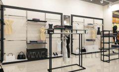 Дизайн интерьера магазина одежды торговое оборудование ЧЕРНО БЕЛАЯ КЛАССИКА Дизайн 21