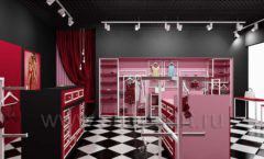 Дизайн интерьера магазина нижнего белья торговое оборудование ИСАБЕЛЬ Дизайн 05