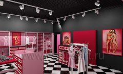 Дизайн интерьера магазина нижнего белья торговое оборудование ИСАБЕЛЬ Дизайн 06