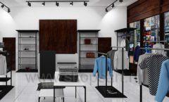Дизайн интерьера магазина мужской одежды торговое оборудование КЛАССИЧЕСКИЙ ЛОФТ Дизайн 03