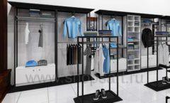 Дизайн интерьера магазина мужской одежды торговое оборудование КЛАССИЧЕСКИЙ ЛОФТ Дизайн 04