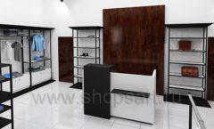 Дизайн интерьера магазина мужской одежды торговое оборудование КЛАССИЧЕСКИЙ ЛОФТ Дизайн 05