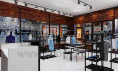 Дизайн интерьера магазина мужской одежды торговое оборудование КЛАССИЧЕСКИЙ ЛОФТ Дизайн 06