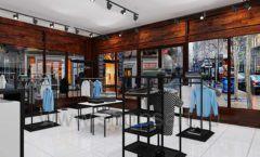 Дизайн интерьера магазина мужской одежды торговое оборудование КЛАССИЧЕСКИЙ ЛОФТ Дизайн 07