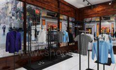 Дизайн интерьера магазина мужской одежды торговое оборудование КЛАССИЧЕСКИЙ ЛОФТ Дизайн 08
