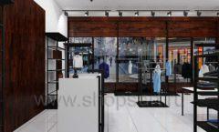 Дизайн интерьера магазина мужской одежды торговое оборудование КЛАССИЧЕСКИЙ ЛОФТ Дизайн 09