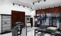 Дизайн интерьера магазина мужской одежды торговое оборудование КЛАССИЧЕСКИЙ ЛОФТ Дизайн 10