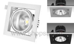 Встраиваемый карданный светодиодный светильник КАРД 1 c мощным световым потоком 3997 лм для магазина