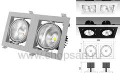 Встраиваемый карданный светодиодный светильник КАРД 2 c мощным световым потоком 7995 лм для магазина