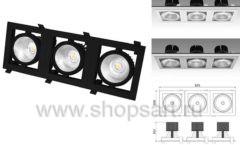 Встраиваемый карданный светодиодный светильник КАРД 3 c мощным световым потоком 11992 лм для магазина