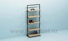 Стеллаж для магазина обуви торговое оборудование СТИЛЬ ЛОФТ