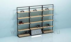 Блок стеллажей для магазина обуви торговое оборудование СТИЛЬ ЛОФТ