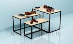 Столы для магазина обуви торговое оборудование СТИЛЬ ЛОФТ