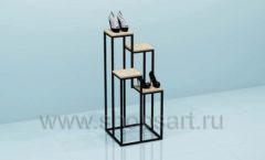 Этажерка для магазина обуви торговое оборудование СТИЛЬ ЛОФТ