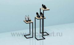 Стойки для магазина обуви комплект торговое оборудование СТИЛЬ ЛОФТ
