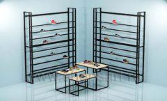 Торговое оборудование для магазина обуви торговая мебель СТИЛЬ ЛОФТ