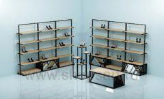 Мебель для магазина обуви торговая мебель СТИЛЬ ЛОФТ