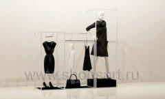 Стойки для магазина одежды комплект белый торговое оборудование ЧЕРНО БЕЛАЯ КЛАССИКА