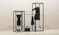 Стойки для магазина одежды комплект чёрный торговое оборудование ЧЕРНО БЕЛАЯ КЛАССИКА