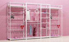 Блок стеллажей для магазинов нижнего белья с навеской торговое оборудование ИСАБЕЛЬ