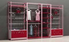 Блок стеллажей для магазинов нижнего белья с кронштейнами полками и накопителями торговое оборудование ИСАБЕЛЬ