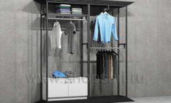 Стеллаж ЛОФТ для магазина мужской одежды двойной торговое оборудование КЛАССИЧЕСКИЙ ЛОФТ