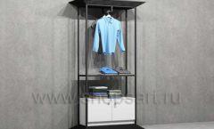 Стеллаж ЛОФТ для магазина мужской одежды с накопителем торговое оборудование КЛАССИЧЕСКИЙ ЛОФТ